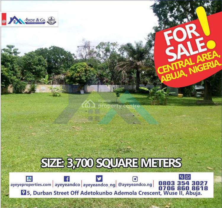 Land Measuring 3,700sqm, Central Business District, Abuja, Land for Sale