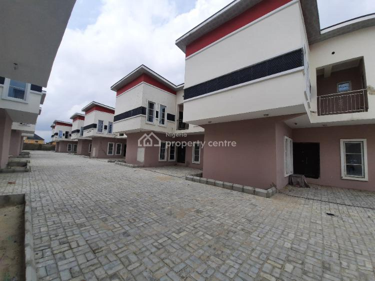 Newly Built 4 Bedroom Semi Detached Terrace (carcass) with Bq, Behind Salem Church, Ilasan, Lekki, Lagos, Terraced Duplex for Sale