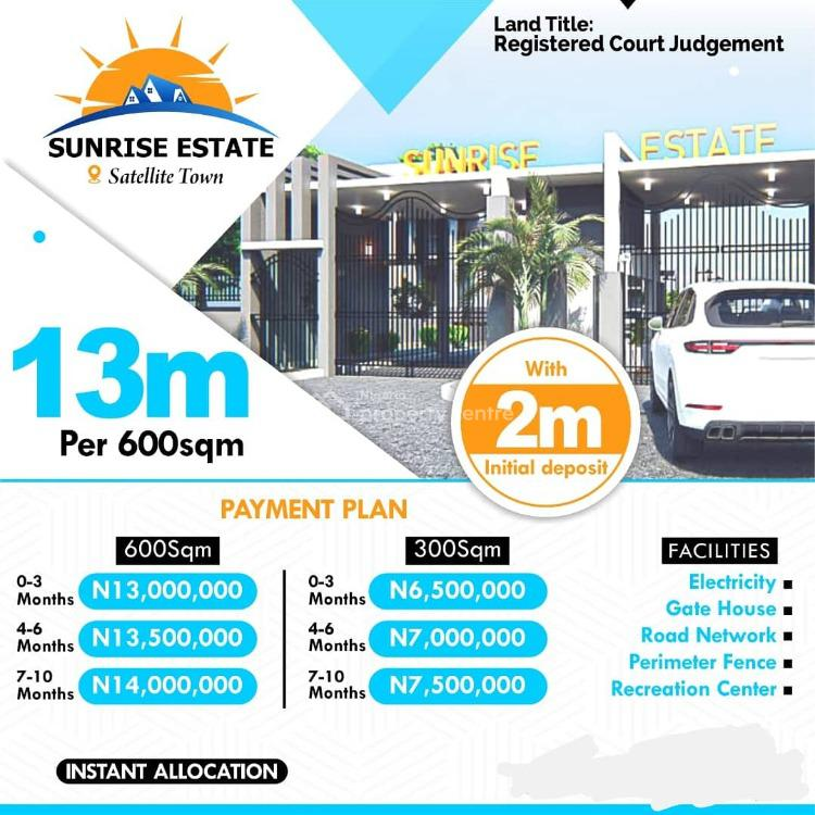 Serenity with Luxury Technology, Comfort and Style of The 21st Century, Sunshine Estate Satellite Town, Festac, Amuwo Odofin, Lagos, Residential Land for Sale