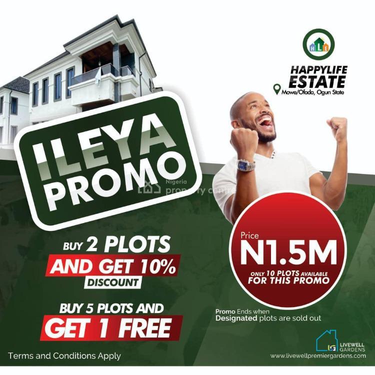 Total Dry Plots of Land, Happy Life Estate, Mowe Ofada, Ogun, Residential Land for Sale
