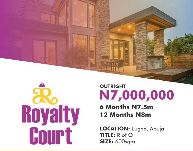 Royalty Court, Behind Amac Market, Beside Nnpc, Oil Spring Estate, Crd, Kiami, Lugbe District, Abuja, Residential Land for Sale