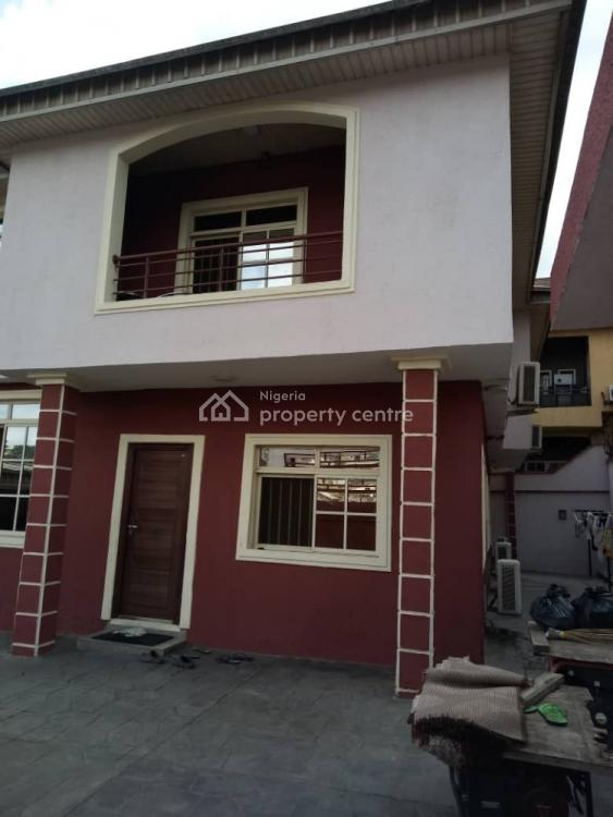 4 Bedroom Duplex with a Standard Bq in an Estate, Off College Road, Ogba, Ikeja, Lagos, Detached Duplex for Sale