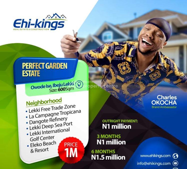 600sqm Plot of Land, Perfect Garden Estate, Apakin, Ibeju Lekki, Lagos, Residential Land for Sale