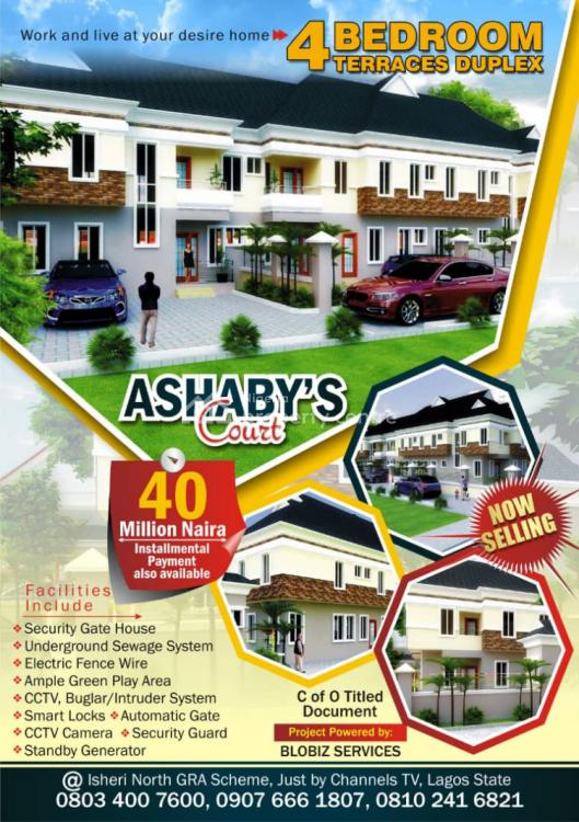 4 Bedroom Terrace Duplex, Road 5 Block 15 Plot 13, Gra, Isheri North, Lagos, Terraced Duplex for Sale
