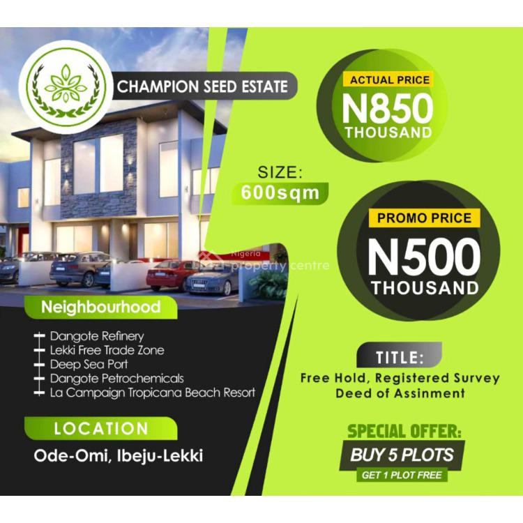 a Mixed Use Land in an Estate, Ode-omi, Akodo Ise, Ibeju Lekki, Lagos, Mixed-use Land for Sale