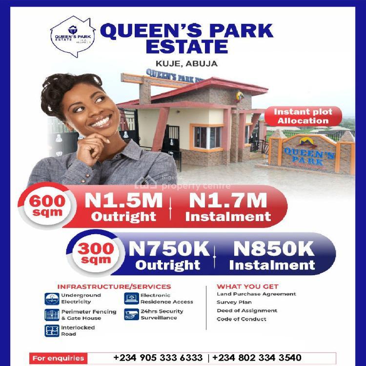 600 Sqm Land, Queens Park Estate, Kuje, Abuja, Land for Sale