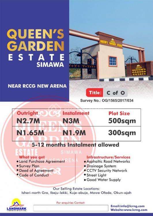 Land, Queens Gardens Estate, Simawa, Ogun, Land for Sale