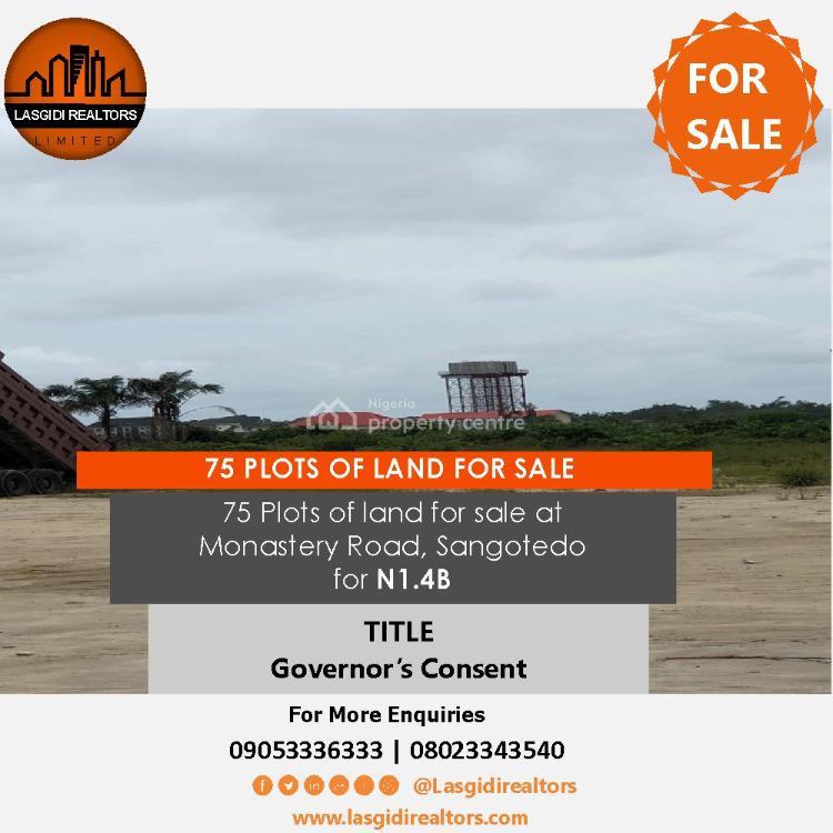 75 Plots of Land, Behind Novare Mall, Monastery Road, Sangotedo, Ajah, Lagos, Land for Sale