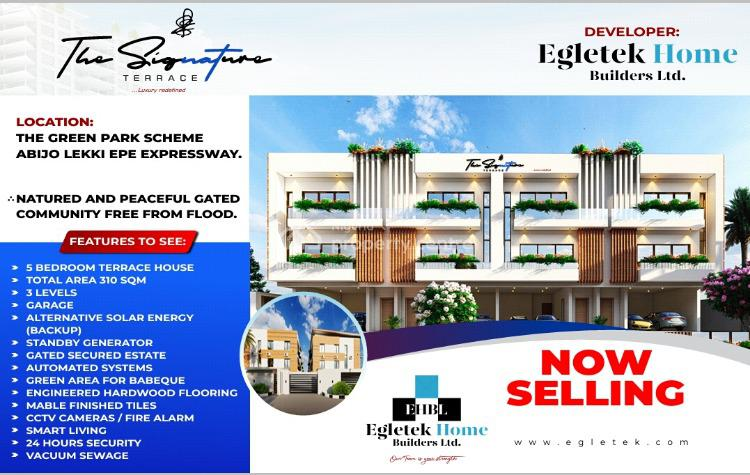 The Signature Terrace, 5 Bedroom Luxury Duplex, Abijo, Lekki, Lagos, House for Sale