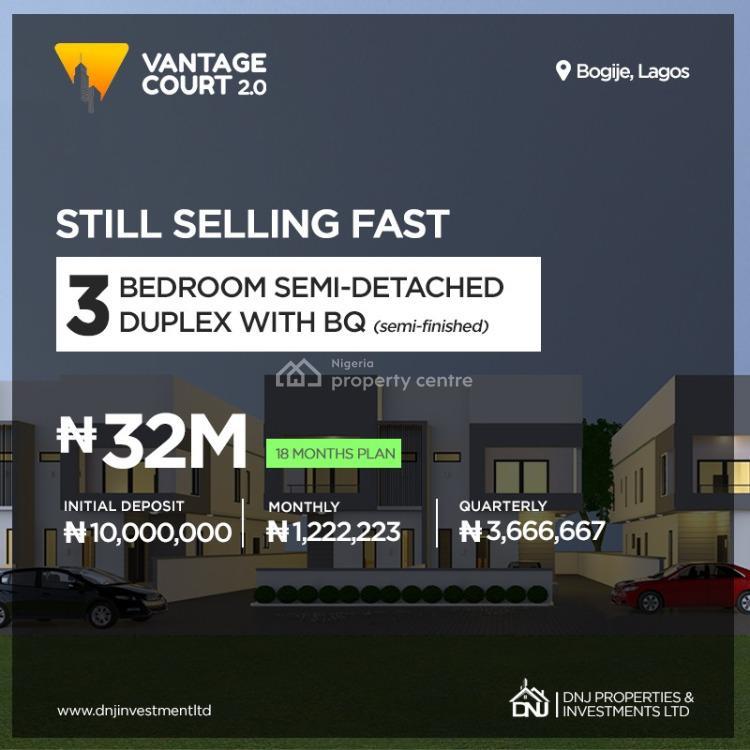3 Bedrooms All Ensuite, Vantage Court, Bogije, Ibeju Lekki, Lagos, Semi-detached Duplex for Sale