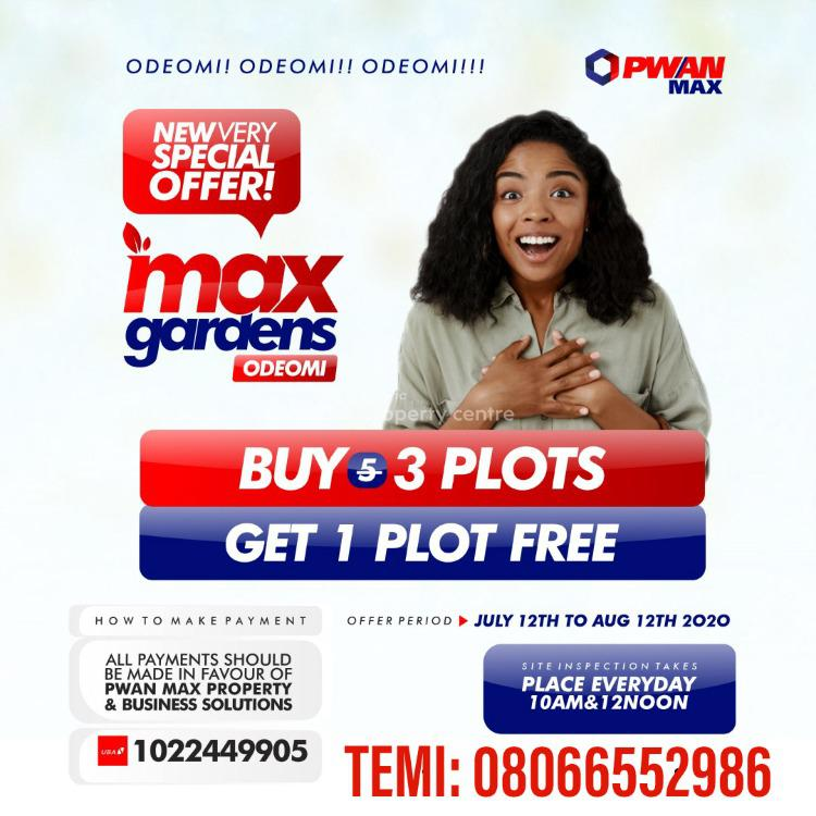 Land, Ode-omi Community, After La Champagne Tropicana. Max Gardens Estate, Ibeju Lekki, Lagos, Mixed-use Land for Sale