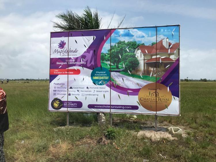 a Luxurious Maplewoods-plus. 100% Dry Land, Opp La Campagne Tropicana, Ibeju Lekki, Lagos, Residential Land for Sale