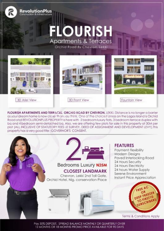 Flourish Apartment and Terrace, Orchid Road By Chevron, Lafiaji, Lekki, Lagos, Detached Duplex for Sale