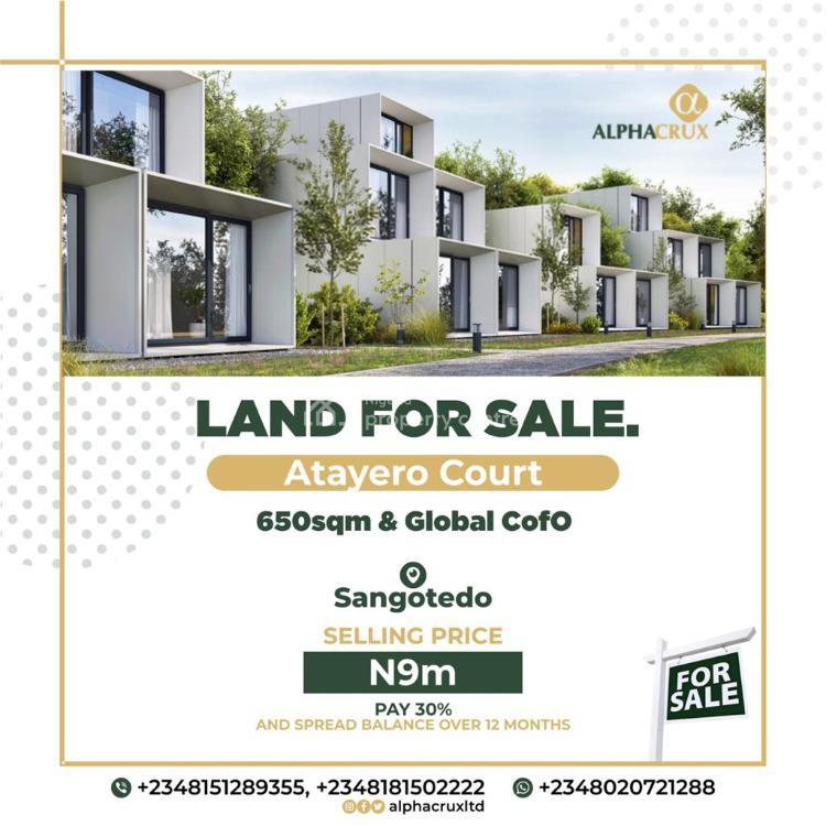 Plot of Land, Atayero Court, Sangotedo, Ajah, Lagos, Residential Land for Sale