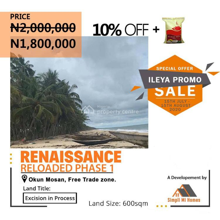 Land, Renaissance Reloaded, Phase 1, Free Trade Zone, Okun Mosan, Ibeju Lekki, Lagos, Land for Sale