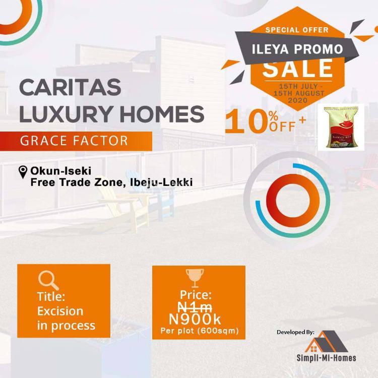 Land, Caritas Luxury Homes, Okun Ise, Lekki Free Trade Zone, Lekki, Lagos, Land for Sale