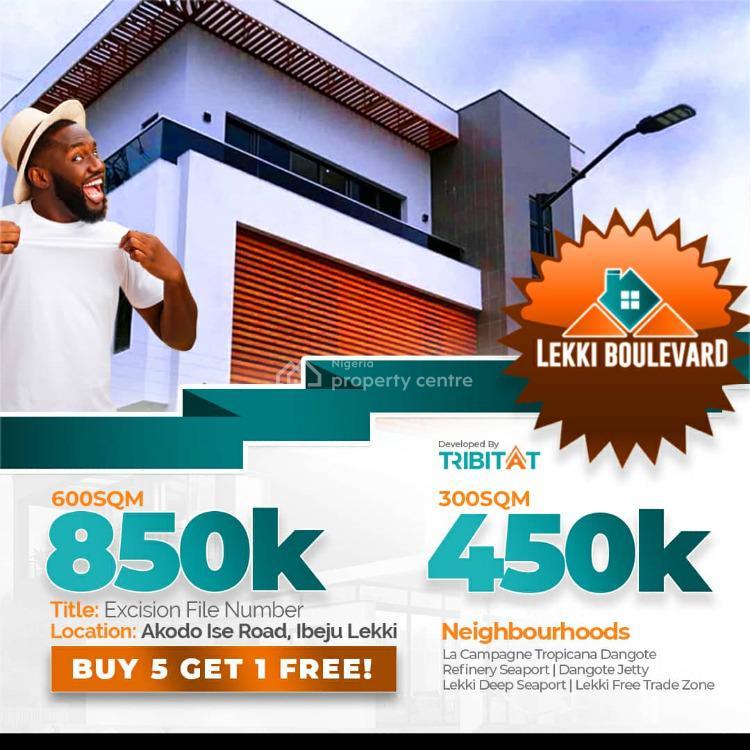 Lekki Boulevard Estate, 5 Minutes Sc  From La Campagne Tropicana Beach Resort., Akodo Ise, Ibeju Lekki, Lagos, Residential Land for Sale