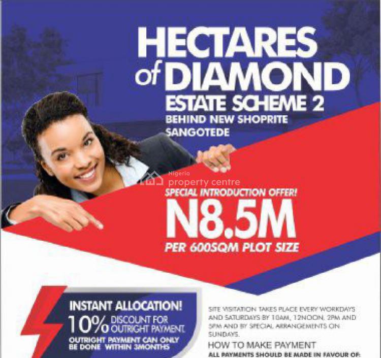 Estate Land, Behind Monastery Road, Sangotedo, Ajah, Lagos, Residential Land for Sale