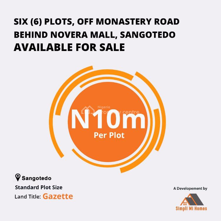Land, Simpli Mi Homes, Sangotedo, Ajah, Lagos, Land for Sale