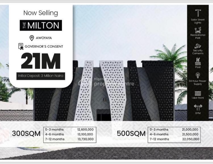 Plots of Land Available in an Urban Lifestyle Luxury., The Milton, Awoyaya, Ibeju Lekki, Lagos, Residential Land for Sale