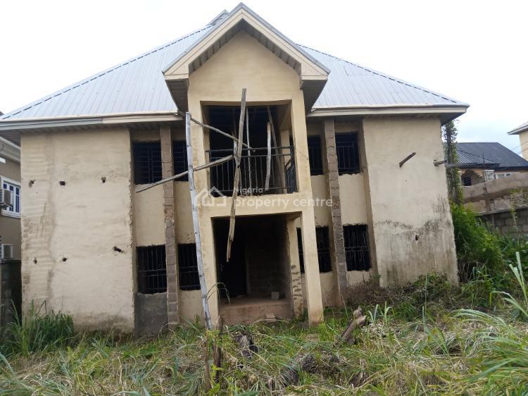 Luxury Semi-completed 6 Rooms Double Duplex, Close to Redemptorist Novitiate Alulu Abakpa Nike, Abakpa Nike, Enugu, Enugu, Terraced Duplex for Sale