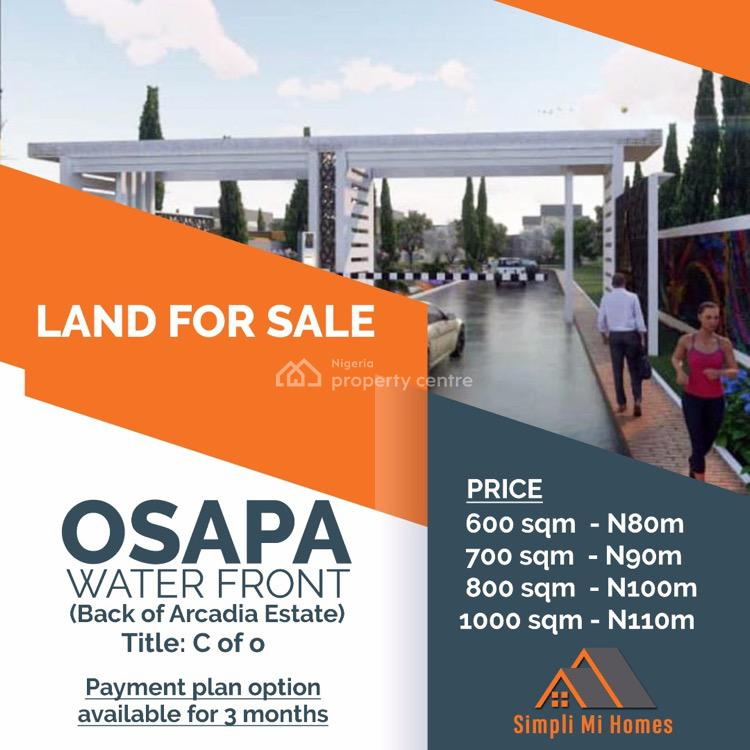 Water Front View Land, Osapa, Lekki, Lagos, Residential Land for Sale