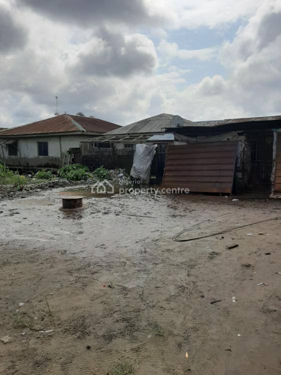 Facing Express One and Half Plot with Existing Shops, Bankole Town, Before Eleko, Ibeju Lekki, Lagos, Commercial Land for Sale