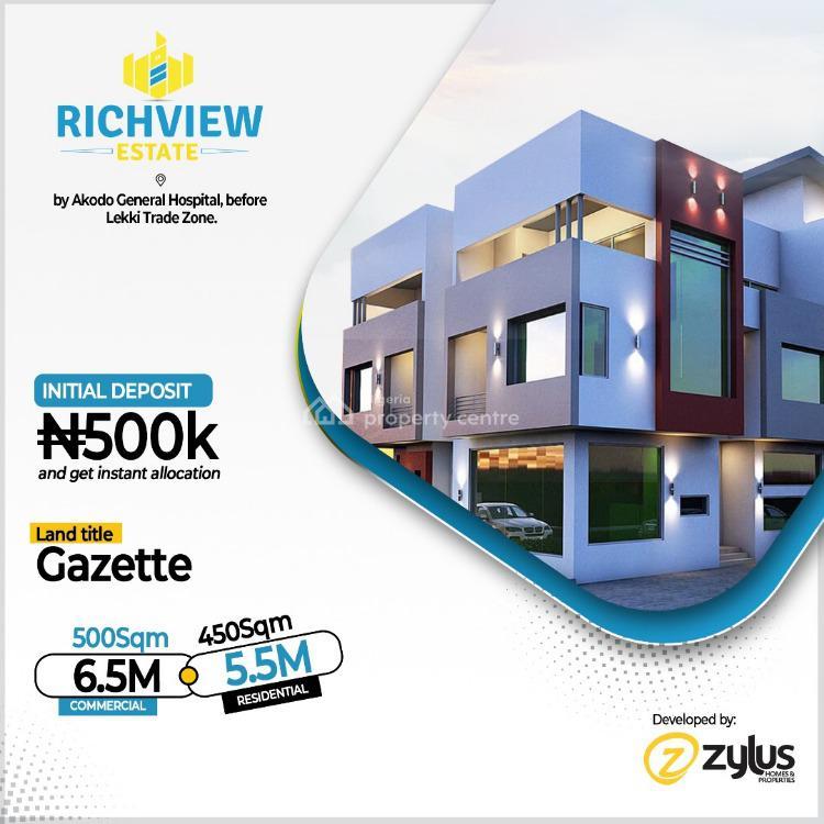 Rich View Estate, Rich View Estate, By Akodo Central Hospital, Before Lekki Trade Zone, Lekki, Lagos, Land for Sale