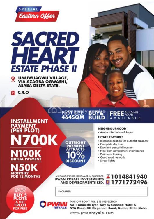 Land, Sacred Heart Estate Phase 2, Asaba, Delta, Residential Land for Sale