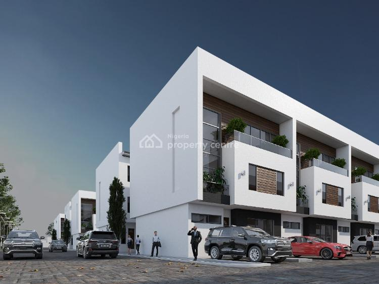 Brand New 100 Units of 4 Bedrooms Terraces with 1 Room Bq, Behind This Present House Church, Lekki Phase 1, Lekki, Lagos, Terraced Duplex for Sale