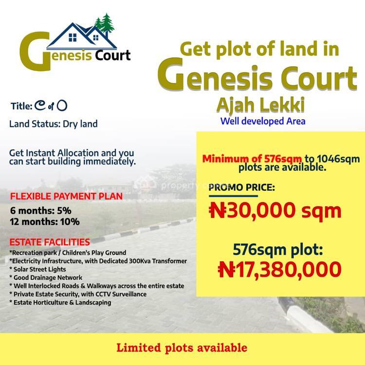 Land, Genesis Court, Ajah, Lagos, Mixed-use Land for Sale