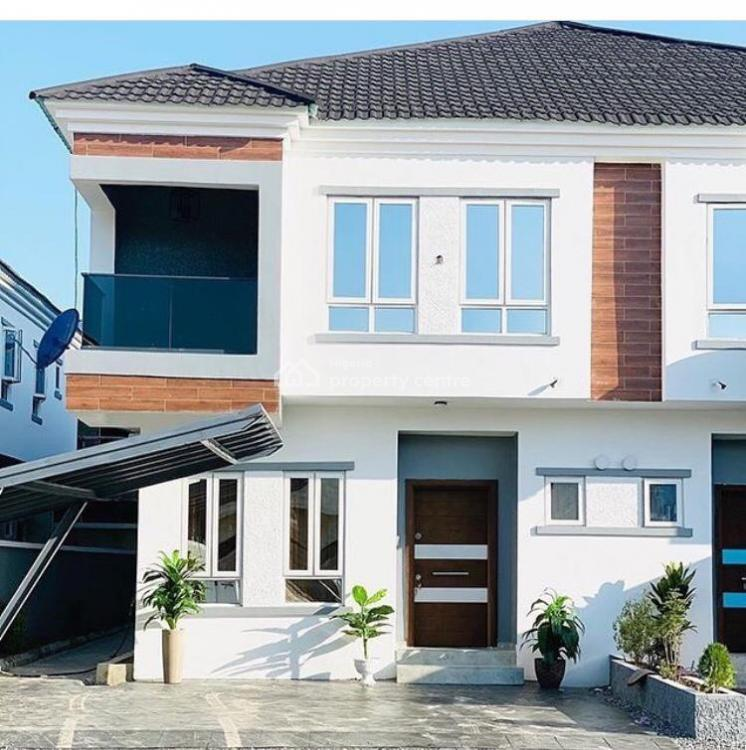 Luxury 4 Bedroom Semi Detached House in an Estate, Chevron Drive, Lekki, Lagos, Semi-detached Duplex for Sale