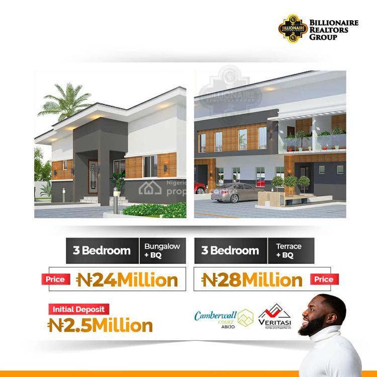 3 Bedroom Terrace with Bq, Abijo, Lekki, Lagos, Terraced Duplex for Sale