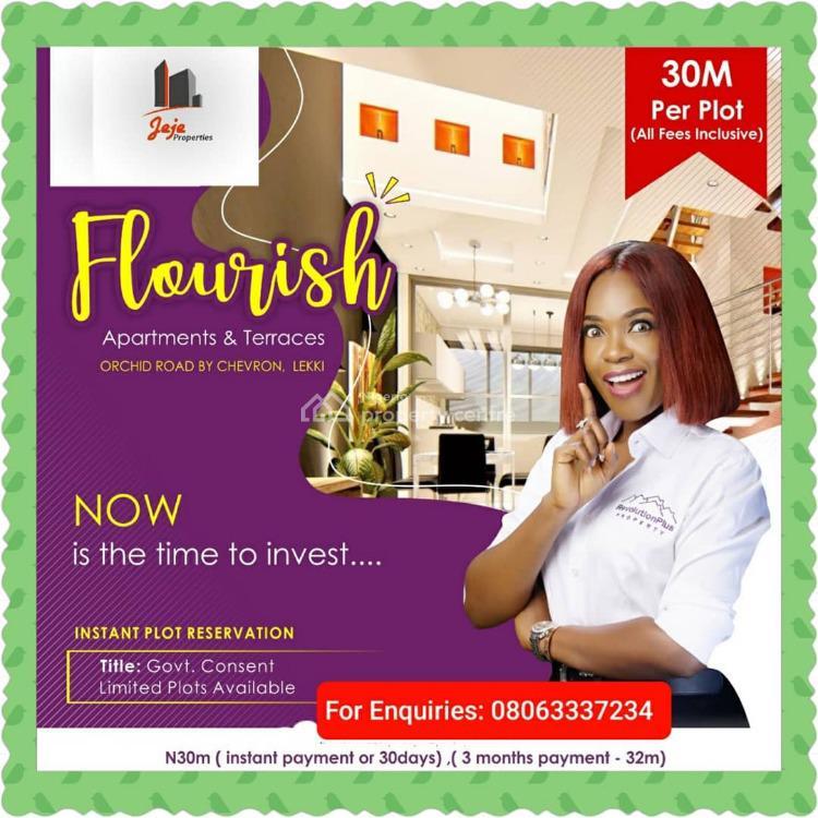 Flourish Residence Land, Orchid Road, Chevron, Lafiaji, Lekki, Lagos, Residential Land for Sale