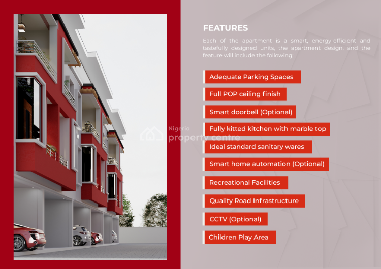 Exquisite 5 Bedrooms Housing with Flexible 20 Years Payment, Bella Courts, Ikate Elegushi, Lekki, Lagos, Terraced Duplex for Sale
