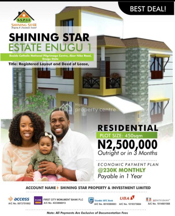 Land, Shining Star Estate, Beside Catholic National Pi, Enugu, Enugu, Residential Land for Sale