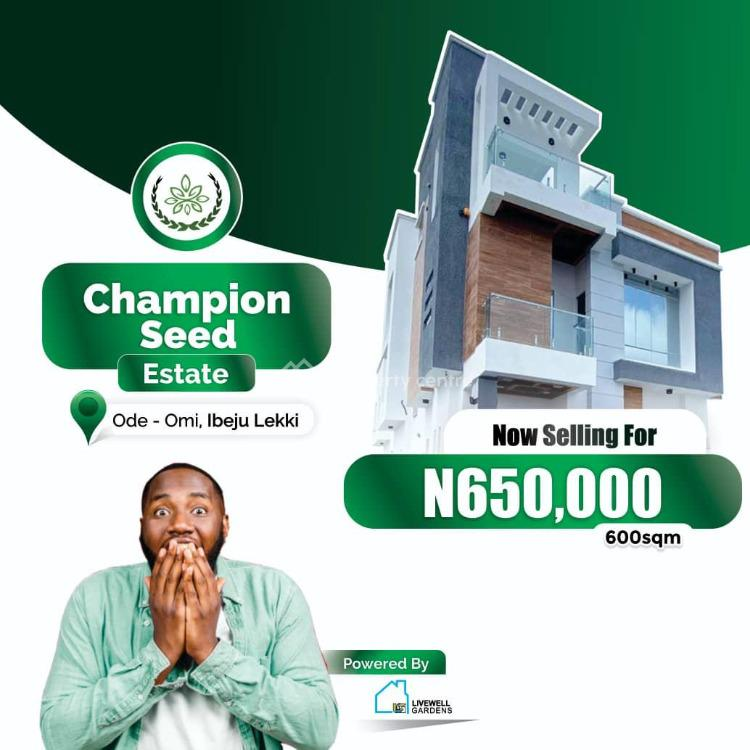 Land, Champion Seed Estate, Ibeju Lekki, Lagos, Residential Land for Sale