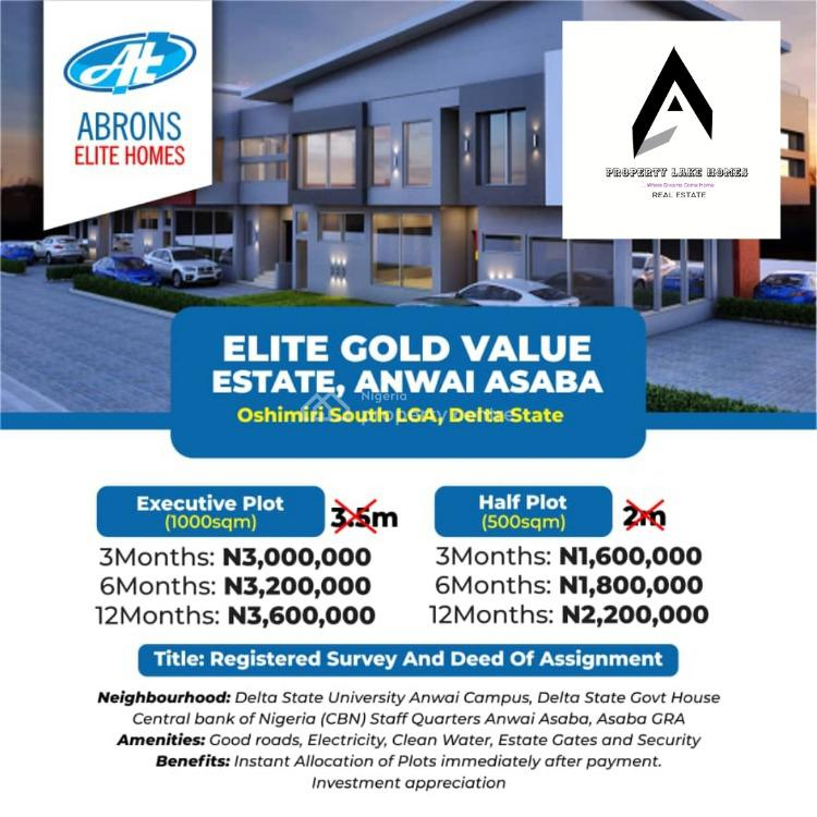 Dry, Secured Estateland with Registered Survey and Deed., Asaba, Oshimili South, Delta, Residential Land for Sale