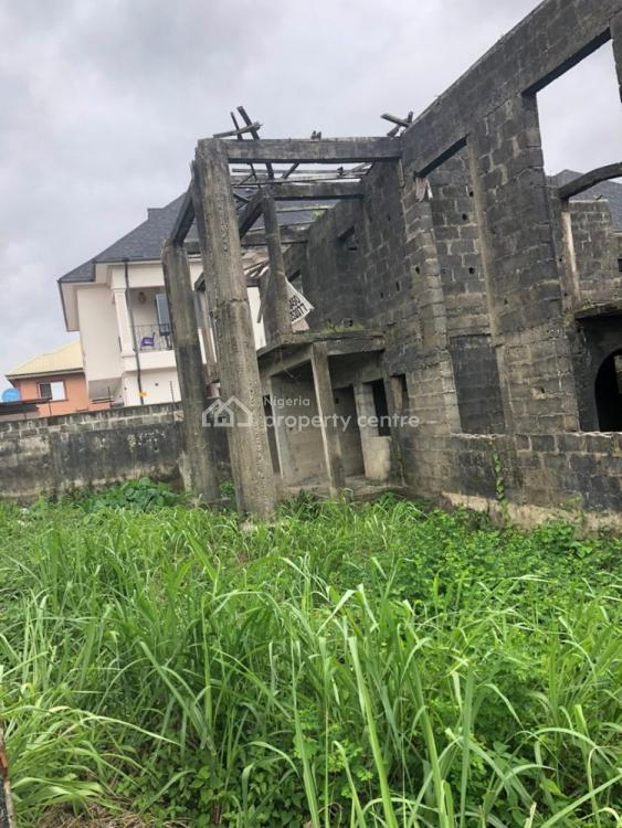 Land with an Uncompleted Building, Sangotedo, Ajah, Lagos, Residential Land for Sale