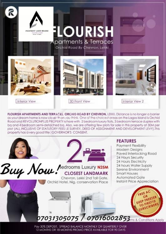 2 Bedrooms Luxury Flat, Orchid Road By Chevron, Lekki, Lagos, Block of Flats for Sale