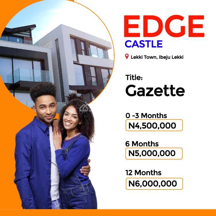 Land, Lekki Town, Edge Castle Estate, Ibeju Lekki, Lagos, Residential Land for Sale