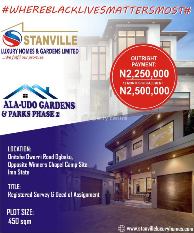 Land, Ala Udo Phase 2 Ogbaku Along Owerri Onitsha Road By Winners Chapel., World Bank, Owerri, Imo, Mixed-use Land for Sale