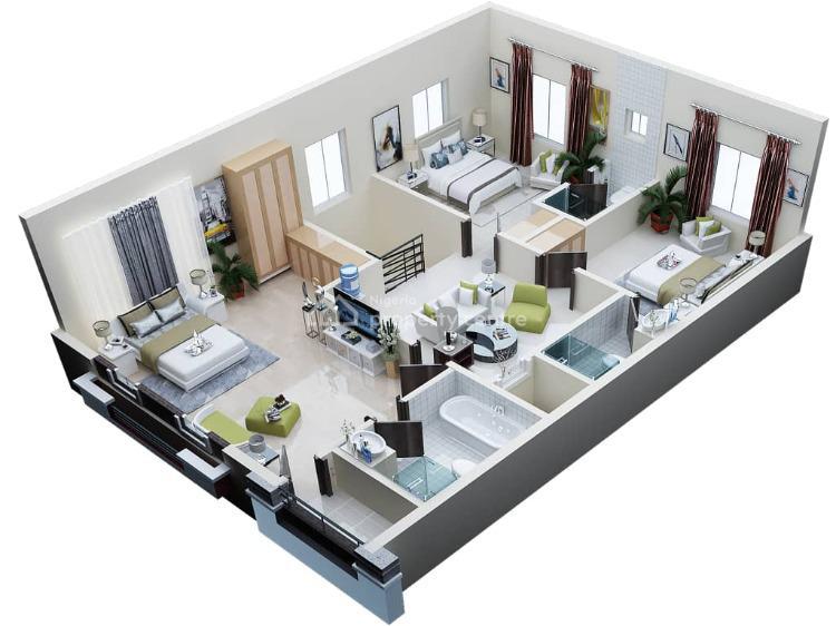 Luxury 3 Bedroom Terrace Duplex, Orchid Road, Lekki, Lagos, Terraced Duplex for Sale