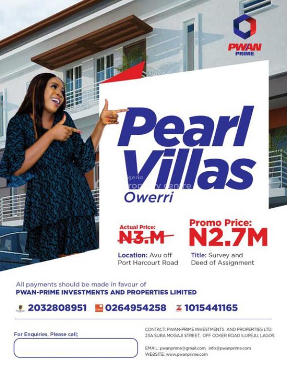 Plot of Land, Pearl Villas, Off Port Harcourt Road, Avu, Owerri, Imo, Land for Sale