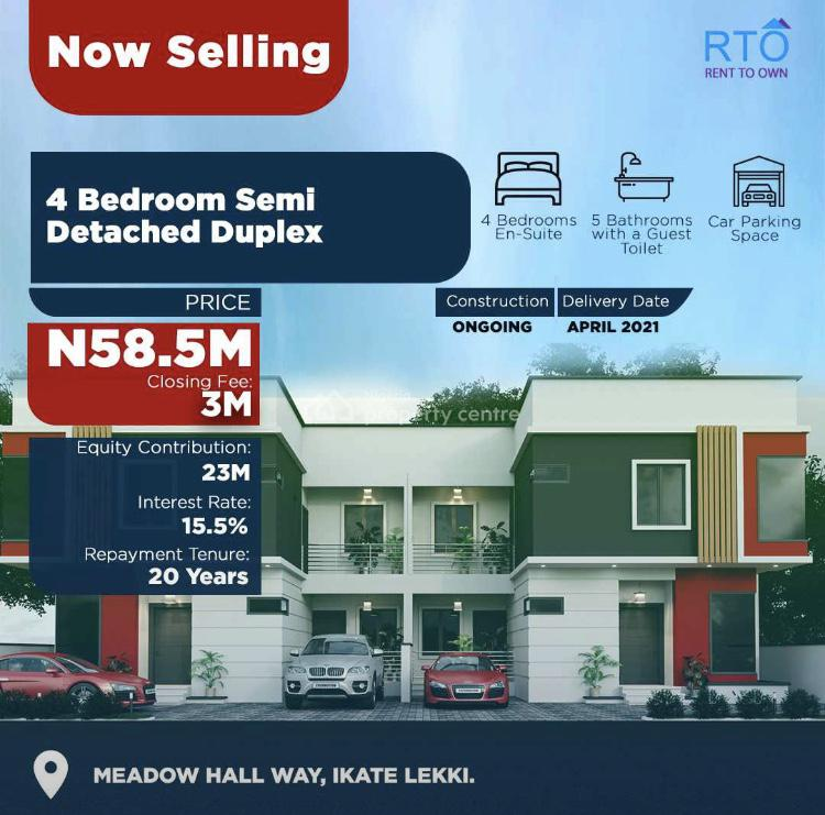 Most Exclusive Rto House Within a Luxury Vicinity, Ikate, Lekki, Lagos, Semi-detached Duplex for Sale