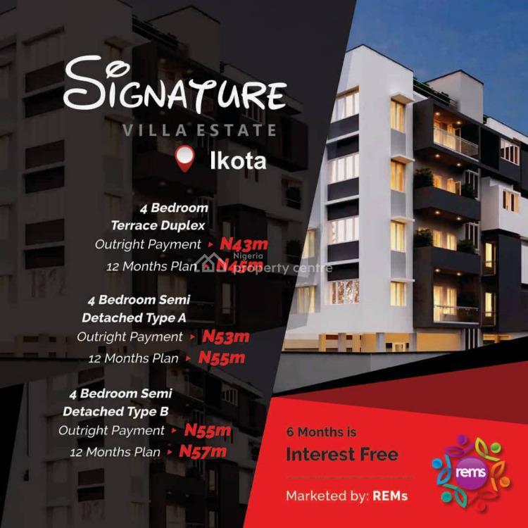 Blocks of 4 Bedroom Terrace Duplexes., Ikota Villa, Ikota, Lekki, Lagos, Terraced Duplex for Sale
