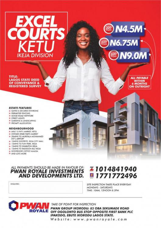 Land in a Serene  Environment, Excel Courts, Alausa, Ikeja, Lagos, Residential Land for Sale