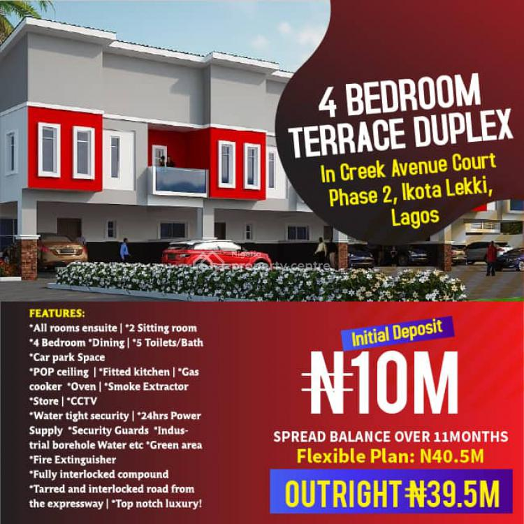 4 Bedroom Terrace Duplex., Ikota, Lekki, Lagos, Terraced Duplex for Sale