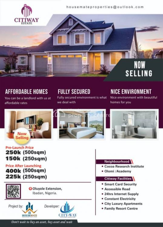 Citiway Estate., Citiway Estate, Olomi Olunde Axis., Oluyole, Oyo, Residential Land for Sale