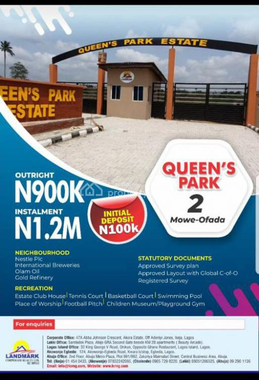 Land with C of O in a Built Up Environment, Queen Park and Estate, Mowe Ofada, Ogun, Mixed-use Land for Sale